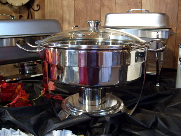 Where to find CHAFER, 5 QT STAINLESS ROUND in White Oak