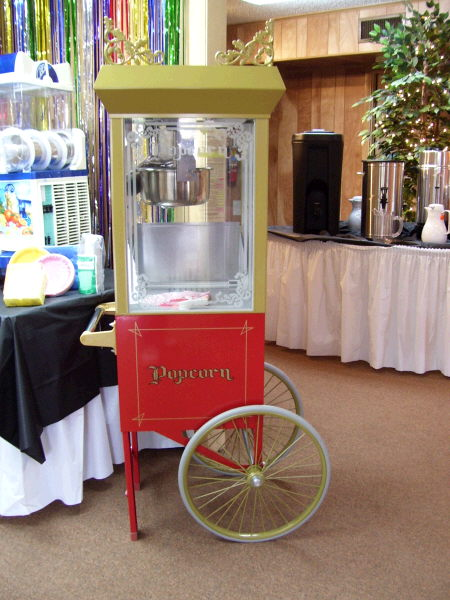 Where to find POPCORN MACHINE W CART in White Oak