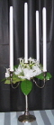 Where to rent CANDLE, SILVER TABLE 10  5 LIT in White Oak TX