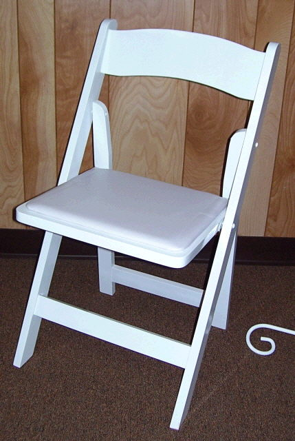 Where to find CHAIR, WHITE WOODEN W  PAD in White Oak