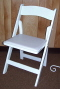 Where to rent CHAIR, WHITE WOODEN W  PAD in White Oak TX