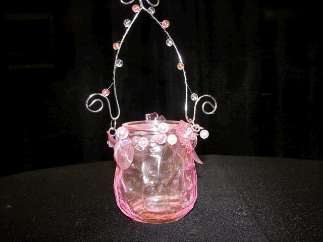 Where to find CANDLE, VOTIVE HANGING LT PINK in White Oak