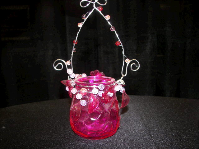 Where to find CANDLE, VOTIVE HANGING FUSCHIA in White Oak
