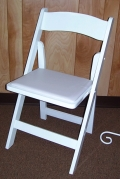 Where to rent CHAIR, WHITE RESIN W  PAD in White Oak TX