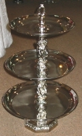 Where to rent TRAY, TIERED 3 METAL BEADED in White Oak TX